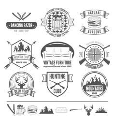 Retro Vintage Insignias set design vector image