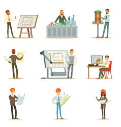architect profession series of vector image vector image