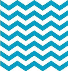 Beautiful aqua blue and white chevron pattern vector image vector image