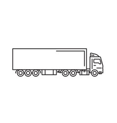 cargo truck with freight container vector image
