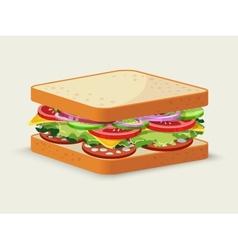Salami sandwich emblem vector