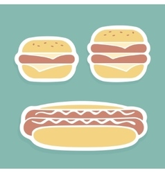 Set of symbols Fast Food vector image vector image