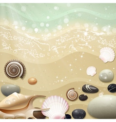 Summer Background with Beach Sand and Sea vector image