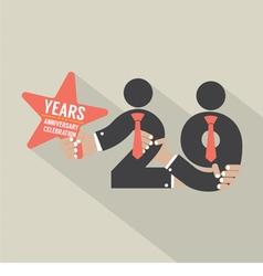 29 Years Anniversary Typography Design vector image vector image