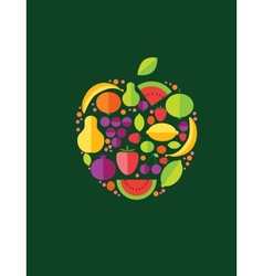 Apple From Fruit vector image vector image