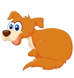 Cartoon dog sitting vector image vector image