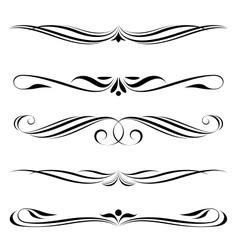 decorative elements border vector image vector image