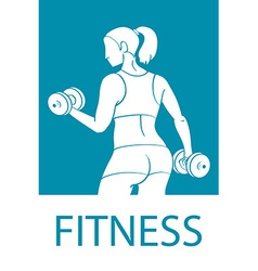 Fitness club and gym banner or poster design vector image vector image