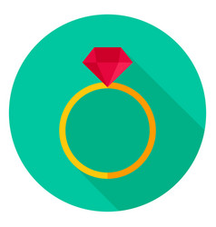 ring with diamond circle icon vector image vector image