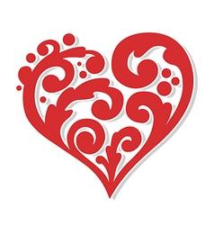 swirly heart vector image vector image