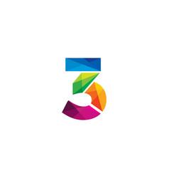 3 colorful letter logo icon design vector