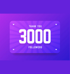 3000 followers in gradient violet vector image