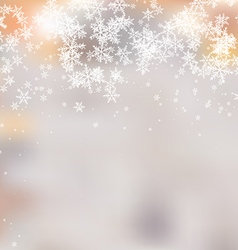 Abstract Background with Snowflakes vector image