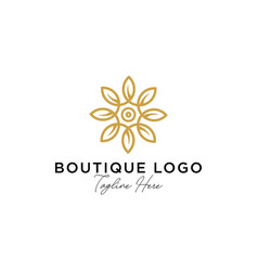 Abstract elegant tree leaf flower logo icon vector