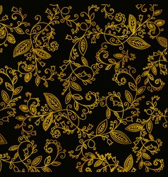 abstract hand drawn gold pattern vector image