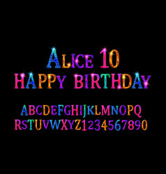 alice 10 font children vector image