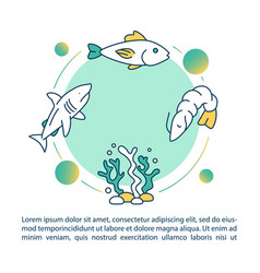 Aquatic food chain concept icon with text seaweed vector