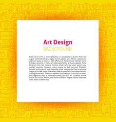 art design paper template vector image