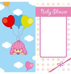 Baby girl birth card vector image