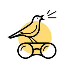 bird watching logo vector image