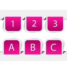 bookmark tabs vector image