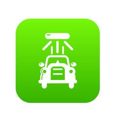 car wash icon green vector image