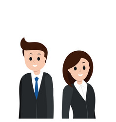 cartoon man and woman in business suit vector image