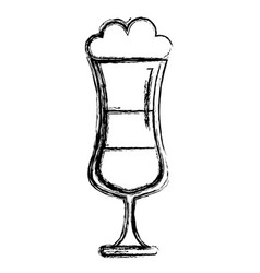 cold coffee cup isolated icon vector image
