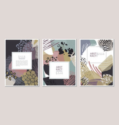 collection trendy creative collage cards vector image