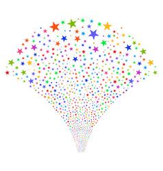 Confetti star fountain stream vector