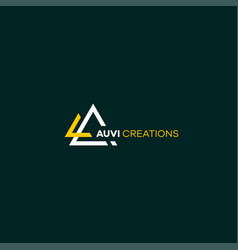 Cool and modern logo initials ac design 2 vector