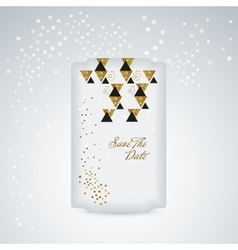 Cute card with gold confetti glitter vector