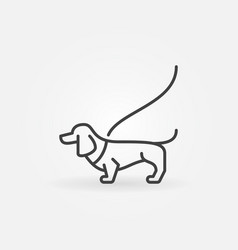 Dog on a leash concept icon vector
