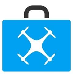 Drone Case Flat Icon vector image