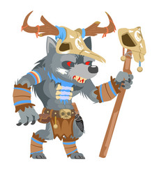 druid wolf werewolf shapeshifter shaman monster vector image