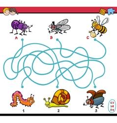 Educational maze task for kids vector