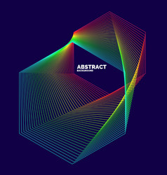 Elegant abstract poster with colorful lines vector