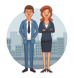 executive business couple vector image