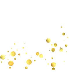 Falling gold confetti vector