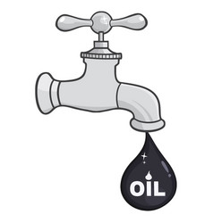 faucet with petroleum or oil drop design vector image