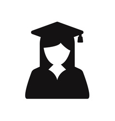 female graduate student icon vector image