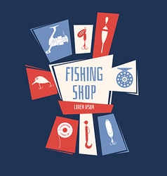 Fishing Shop Background vector