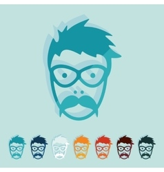 Flat design face male vector image vector image