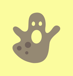 Flat icon on background halloween ghost vector