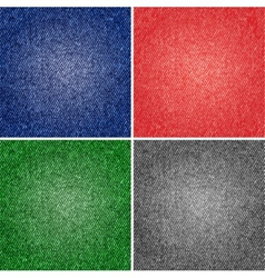 Four different versions jeans texture vector image
