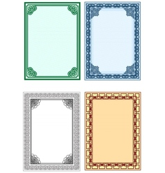 frame for design of certificates and diplomas vector image