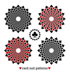gambling card suit poker four patterns vector image