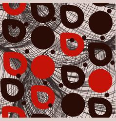 Geometric abstract seamless pattern circles drops vector
