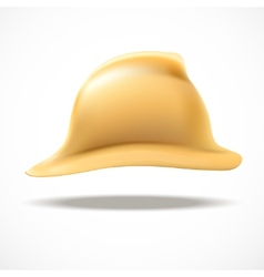 Gold fireman helmet side view vector image