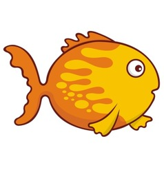 goldfish cartoon vector image